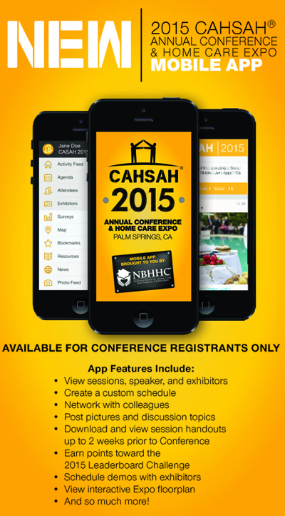 2015 CAHSAH Annual Conference mobile app