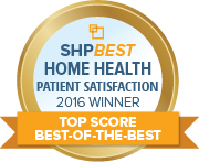 SHP Best 2016 HHCAHPS Top Score