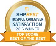SHP Best 2016 CAHPS Hospice Top Score