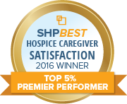 SHP Best 2016 CAHPS Hospice Top 5 Percent