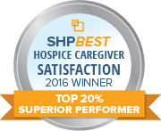 SHP Best 2016 CAHPS Hospice Top 20 Percent
