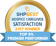 SHP Best 2017 CAHPS Hospice Top 5 Percent