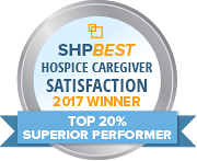 SHP Best 2017 CAHPS Hospice Top 20 Percent