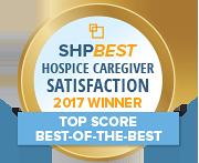 SHP Best 2017 CAHPS Hospice Top Score
