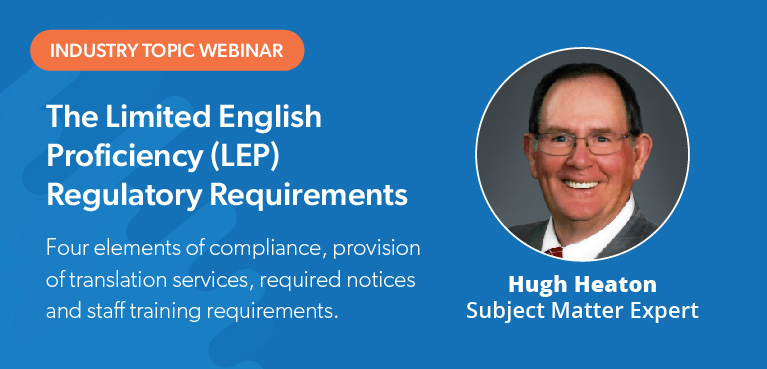 Limited English Proficiency Requirements Webinar